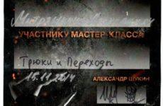 Сертификат Александра Митряшкина