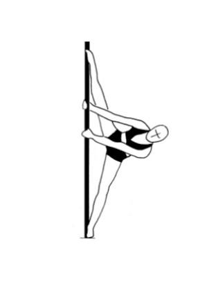 Урок-26 боковой шпагат на пилоне - Side pole straddle base