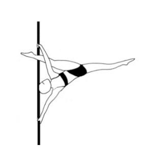 Урок-34 Split grip leg through split