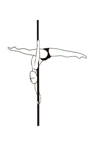 Урок - 40 Handspring Split элемент Pole dance