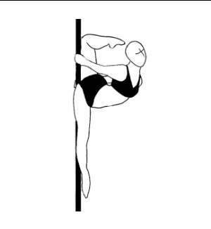 Pole dance урок - 47 Back split to pole ring position