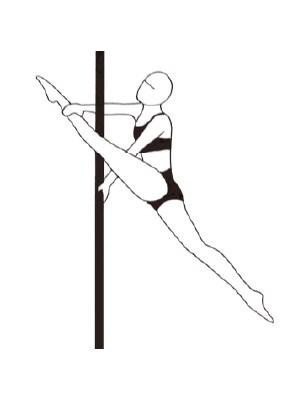 Pole dance урок - 51 Elbow Bracket Split