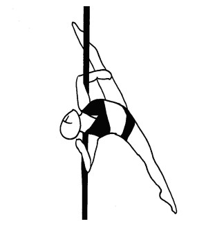 Pole dance урок - 58 Pegasus split facing upwards