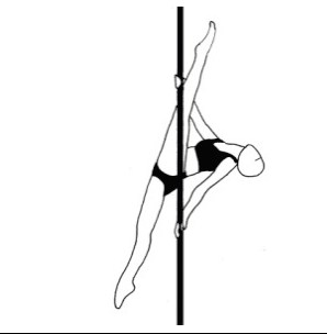 Pole dance урок - 59 Split grip leg through frontal split