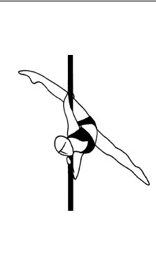 Pole dance урок - 69 Pegasus split facing floor