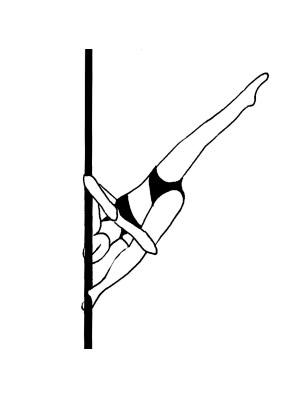 Pole dance урок - 71 Russian split elbow lock