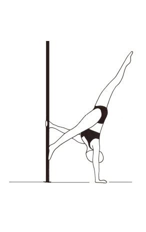 Pole dance урок - 72 Twisted Floor K