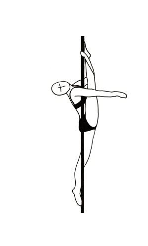 Pole dance урок - 74 Vertical jade