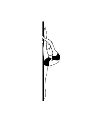 Pole dance урок - 78 Back split overhead hold on pole