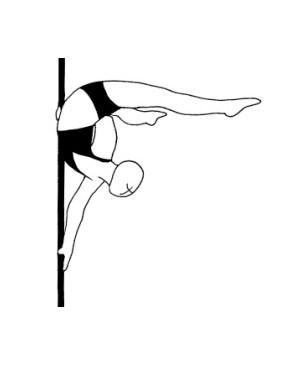 Pole dance урок - 79 Dragon tail back bend