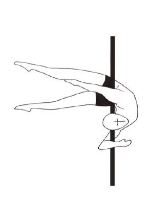 Pole dance урок - 80 Elbow Grip Horizontal Back Bend