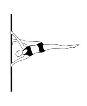 Pole dance урок - 84 Handspring split on pole