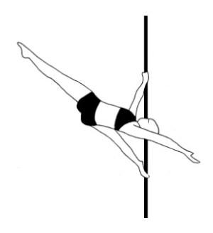 Pole dance урок - 86 Flying K