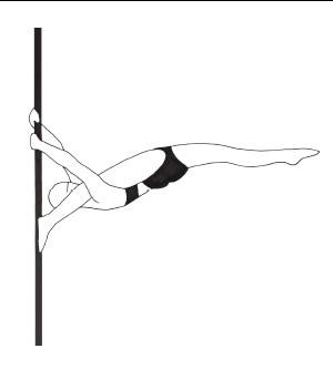 Pole dance урок - 87 Russian split horizontal