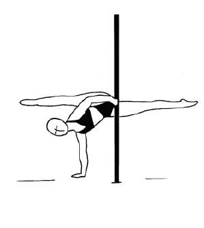 Pole dance урок - 88 Wenson split