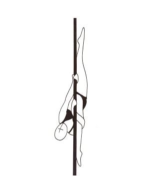 Pole dance урок - 89 Vertical Split