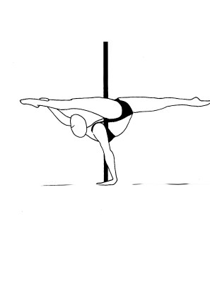 Pole dance урок - 90 Floor based Marchenko