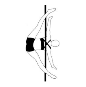 Pole dance урок - 91 Crossbow
