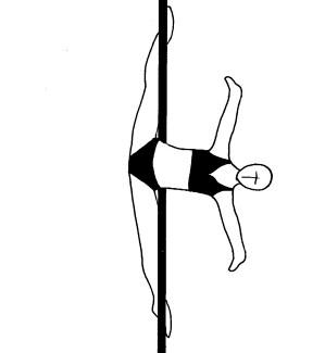 Pole dance урок - 92 Low back crossbow