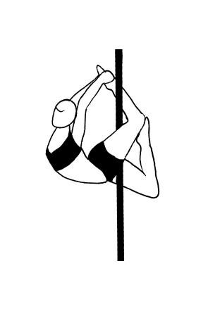 Pole dance урок - 96 Superman crescent attitude